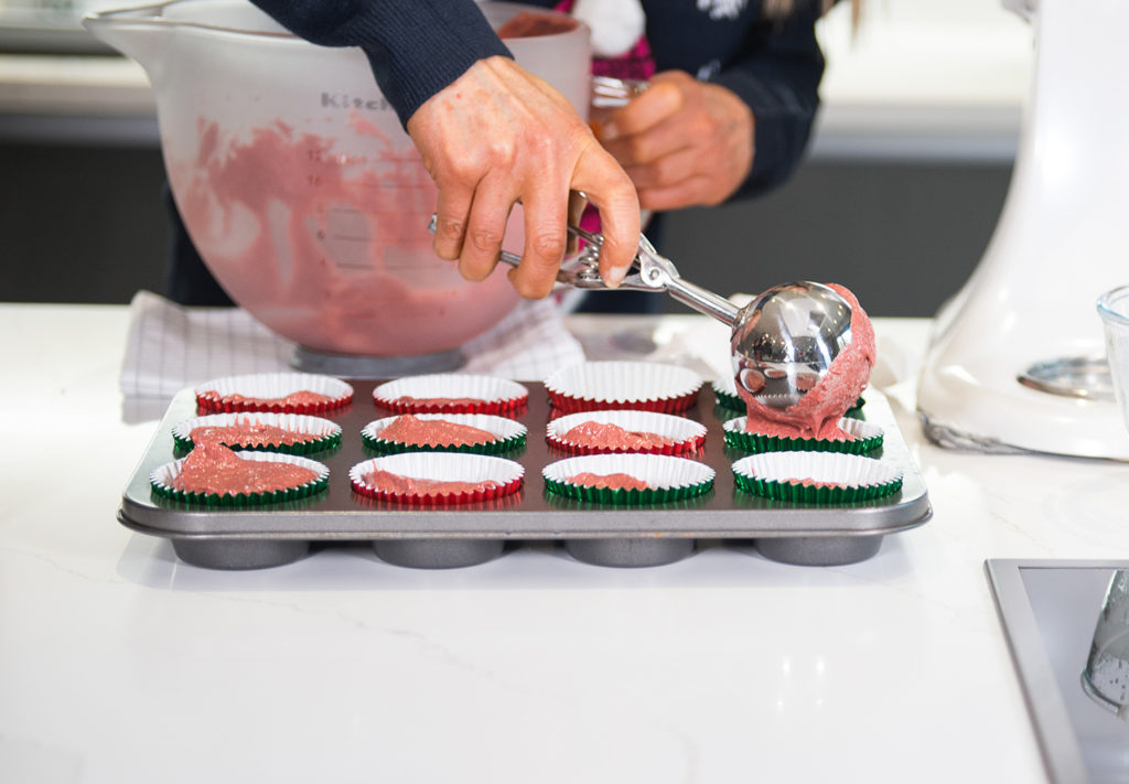 RED VELVET CUPCAKES WITH ELF FROSTING BY Home cooking with Julie Neville_10