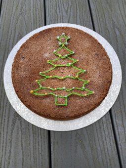 SPICED CHRISTMAS TREE SPONGE Recipe by Julie Neville