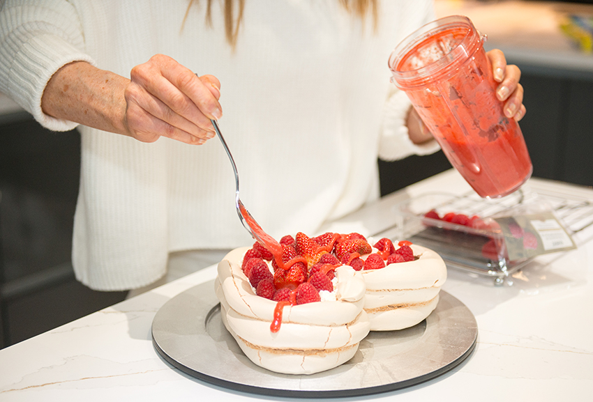Pavlova Valentines Day Home Cooking with Julie Neville