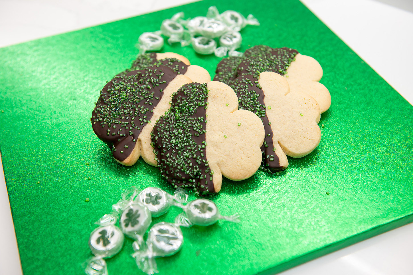 shamrock cookies recipe home cooking with julie neville