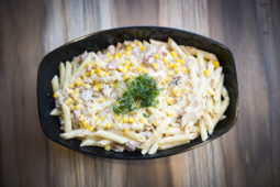 Sausage and sweetcorn penne Home Cooking with Julie Neville3
