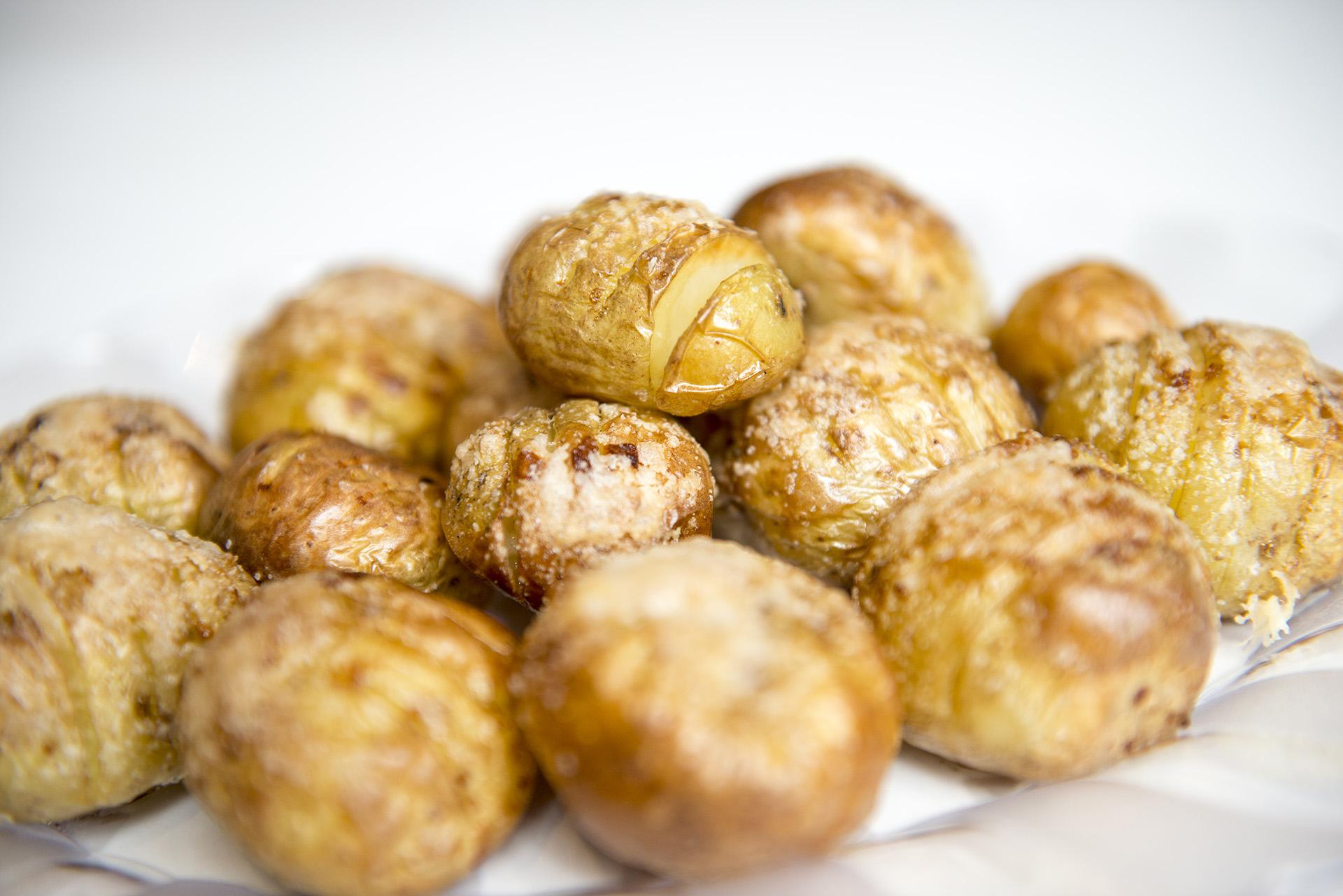 Parmesan Mini Hasselback Potatoes