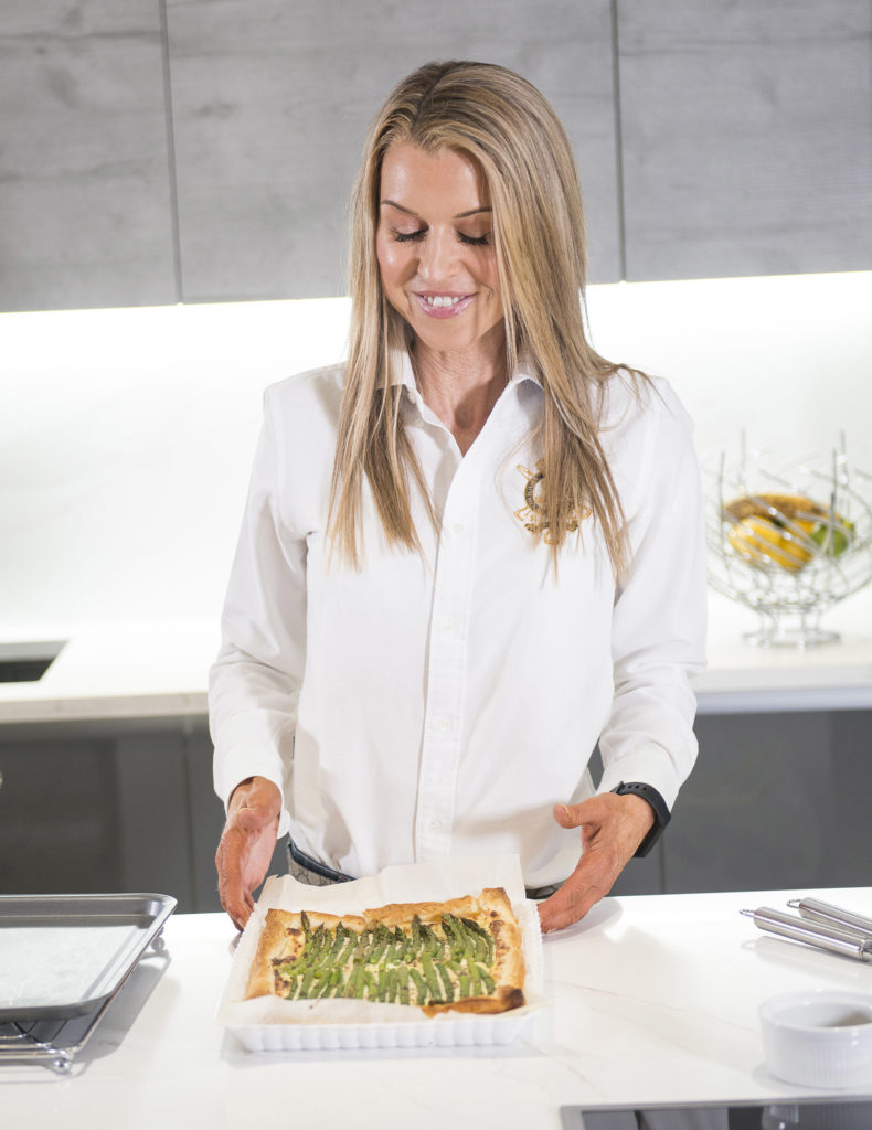 aspargus puff pastry tart recipe home cooking with julie neville