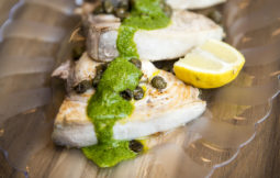 pan fried swordfish served with rocket and lemon recipe home cooking with julie neville