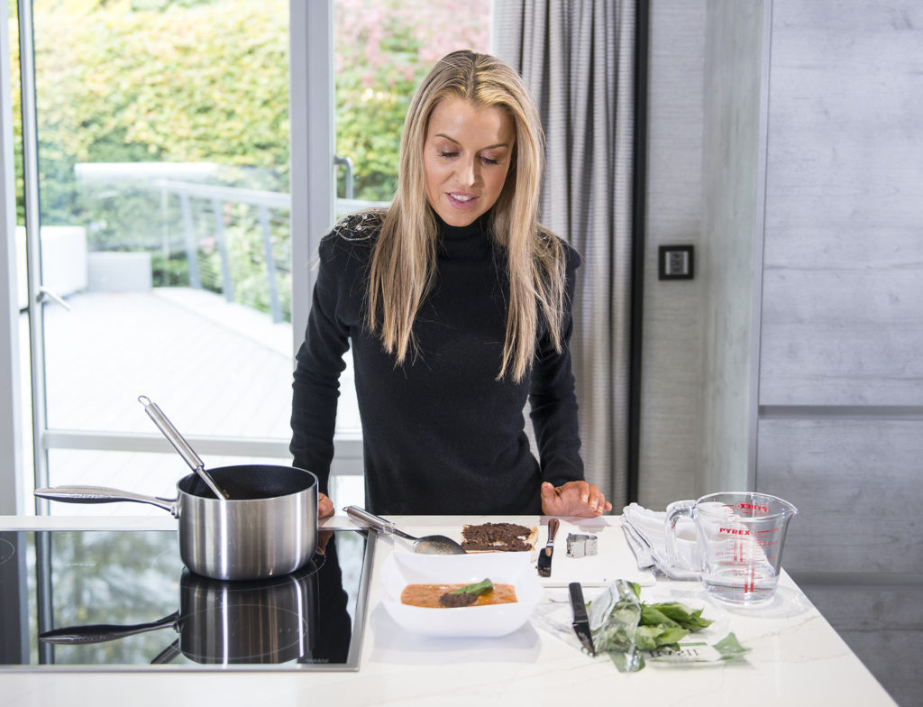 EASY TOMATO SOUP WITH OLIVE CROUTONS recipe by home cooking with julie neville10