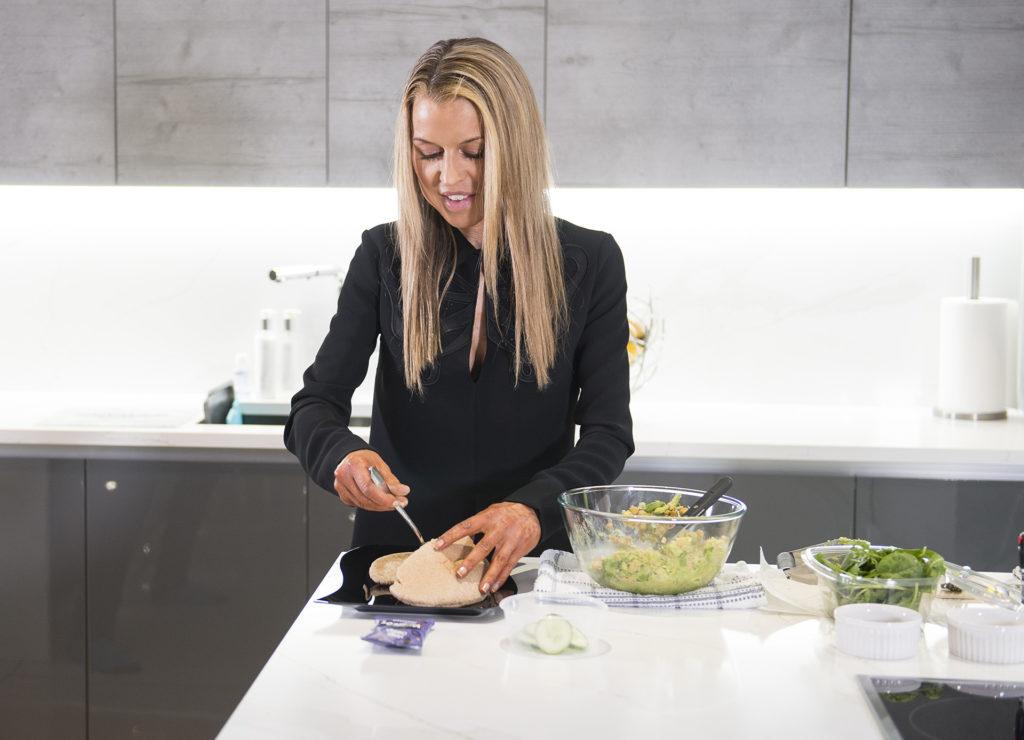 Vegan Veggie Chik Pea Cucumber Sandwich recipe by Julie Neville